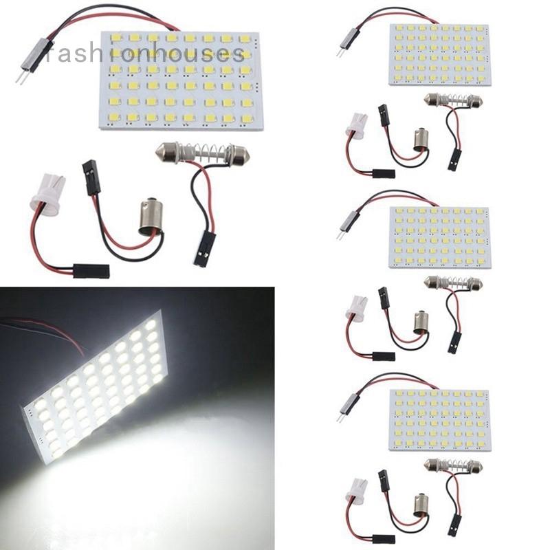 20 x Festoon T10 BA9S 48-SMD Panel Dome Map Interior LED Light Bulbs 12V White