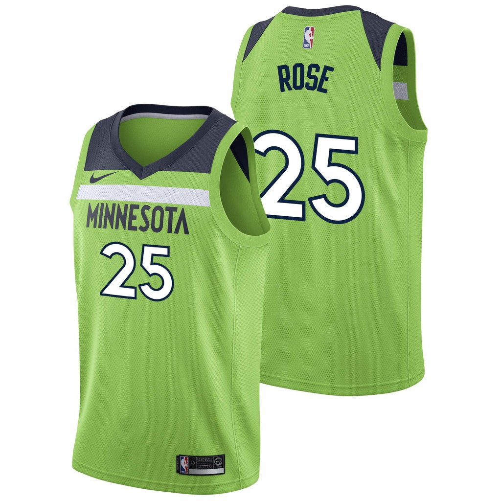 Nike Num 25 Derrick Rose Nba Minnesota Timberwolves Jersey For
