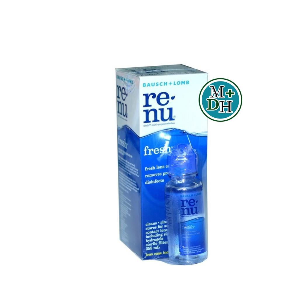 Renu น้ำยาล้างคอนแทคเลนส์ 355 ml *****แถมขวดเล็ก 60 ml