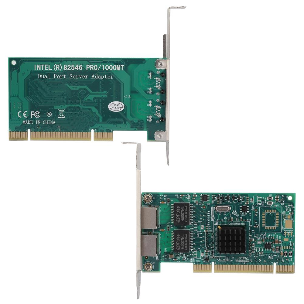 For Intel 82546 Gigabit PCI 16x Dual Port Ethernet Network Card Adapter WLAN SM