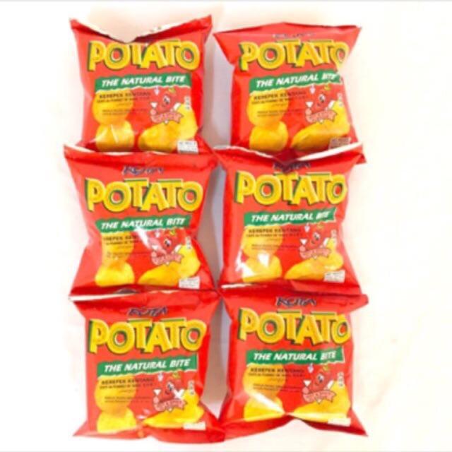 Rota Potato Chips 16gm X 6 pack Hot Spicy