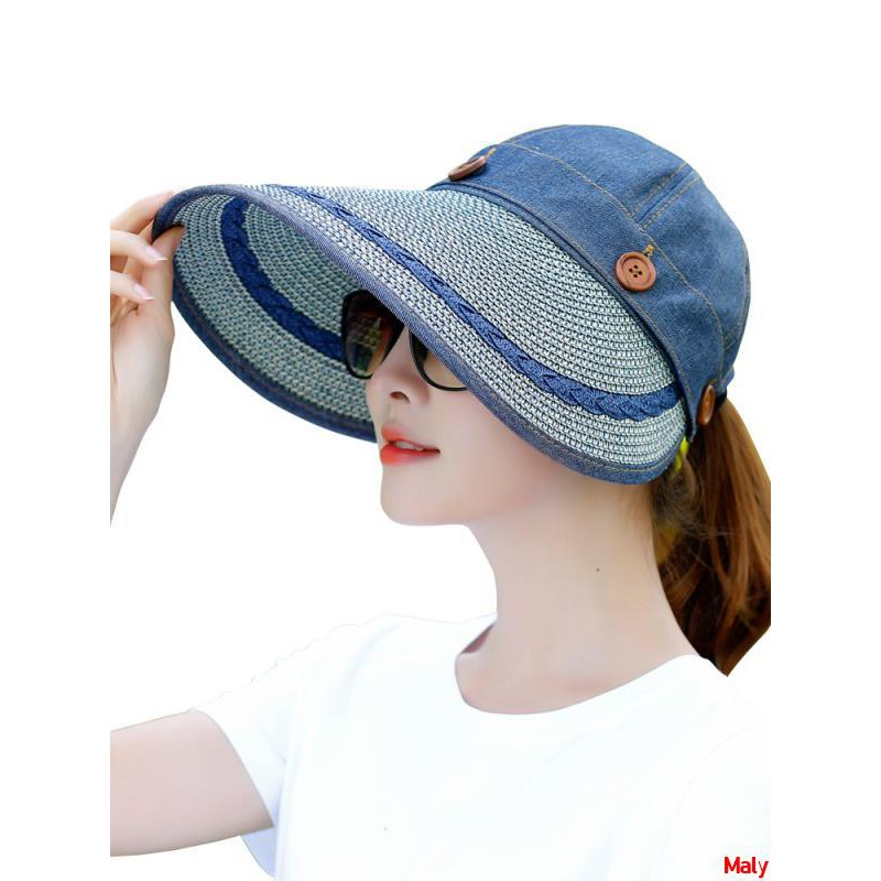 d41e59d7960c6a ProductImage. ProductImage. Summer sun hat female sunscreen folding outdoor  cycling large beach ...
