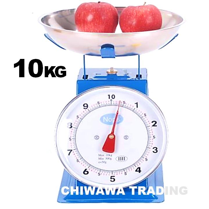 Commercial Mechanical Weighing Scale Market Kitchen Flat Plate Scale 30kg Timbang Berat Alat Penimbang Buah Dan Sayuran
