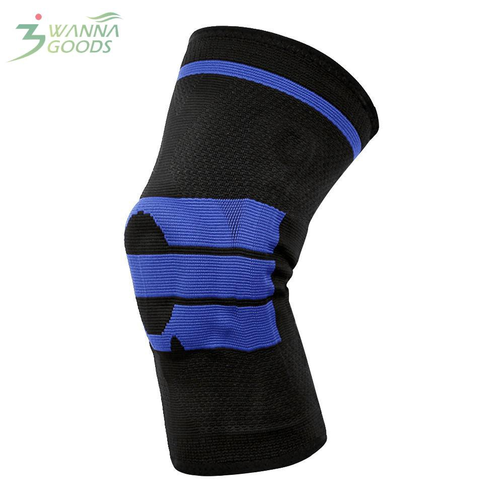 ★Wg★Elastic Knee Support Bracket Kneecap Nylon Basketball Safety Breathable  Sports Strap Protective Tape Knee Pads