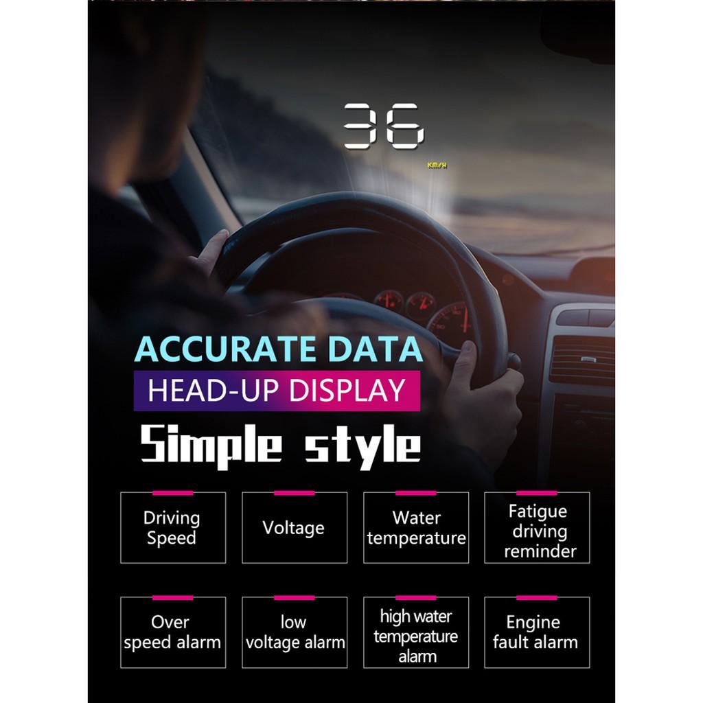 Universal Digital Speedometer Car Head up Display with
