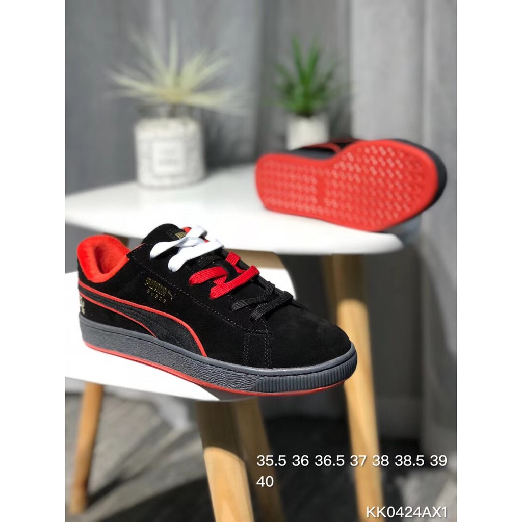 cheaper 628d6 ba4f0 YT PUMA Suede Classic x FUBU joint 50th anniversary low shoes black red  WOMEN
