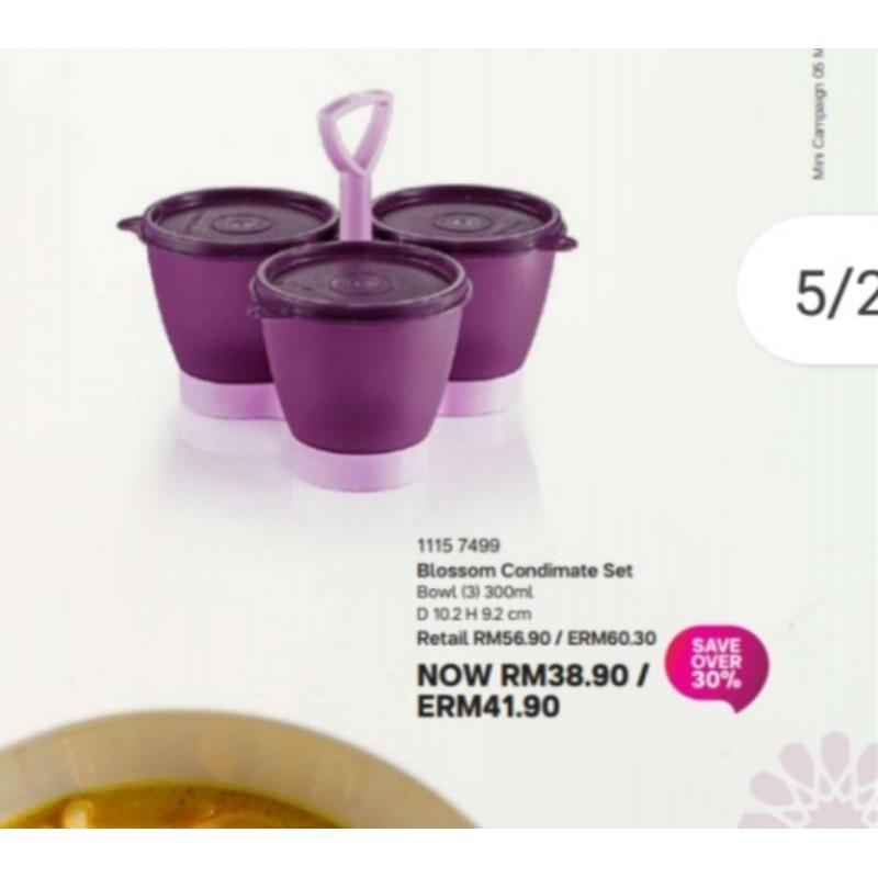 (READY STOCK)Tupperware Blossom Condimate Set