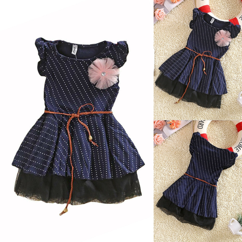 1-8Y Baby Girls Long Sleeve Party Tulle Tutu Dress Kids Holiday Skater Skirt Top