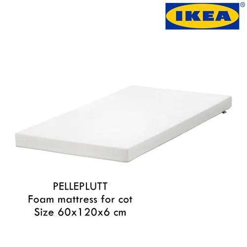 official photos c4d03 90824 IKEA PELLEPLUTT Foam mattress for cot 60x120x6 cm