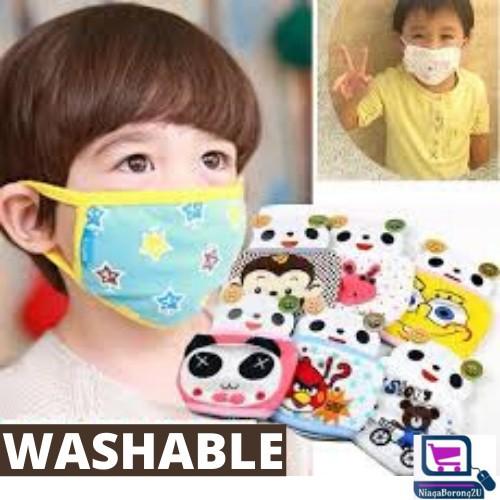 MALAYSIA SHP: PENUTUP HIDUNG MULUT KANAK / MASK BOLEH BASUH / Child Kids Face Masks Dust Respirator Washable