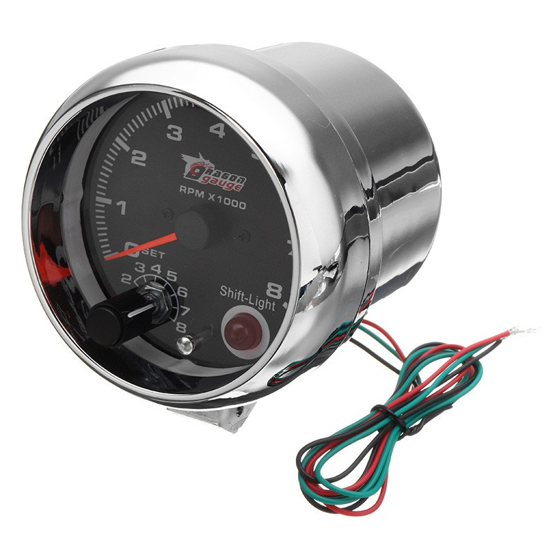 Car Engine Speed Pointer Tachometer Tacho Gauge Meters Tester Counter  0~8000 RPM