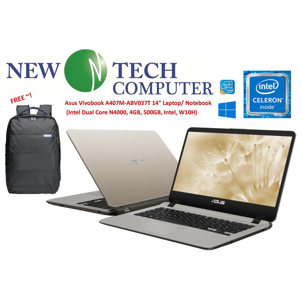 Asus Vivobook A407M-ABV037T / A407M-ABV036T 14 inch Laptop(N4000, 4GB,  500GB, Intel, W10)