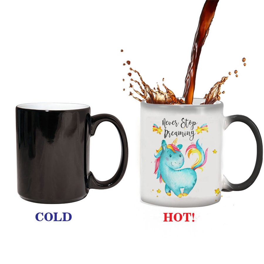 34a0a7ba595 Magic blue Unicorn Mug Heat Sensitive Color Change Coffee Milk Mug Cup Gift  mug