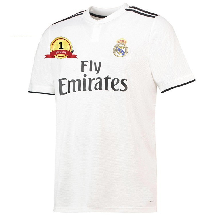 best website 8df5a 412c5 Real Madrid Home Jersey football Jersey soccer Jersey Jersi T-shirt white  18/19