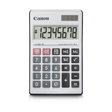 Calculator Canon LS - 88Hi II Canon Calculator LS-88Hi II 8-Digit Electronic Solar Battery(Ready Stock)