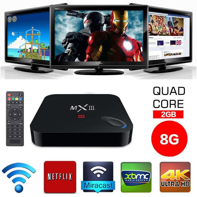 MX III TV Box Android 4.4 Quad Core Mali450 4K 2G/8GB
