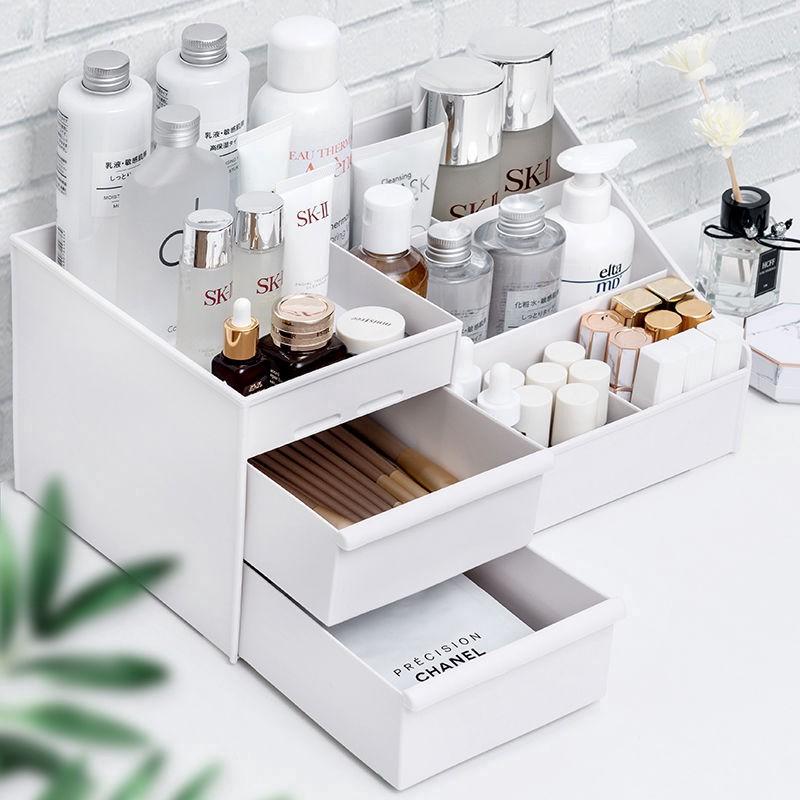 Multi-Grids Practical Design Plastic Tabletop Saving Space Desktop Comestics Makeup Storage Drawer Type Box