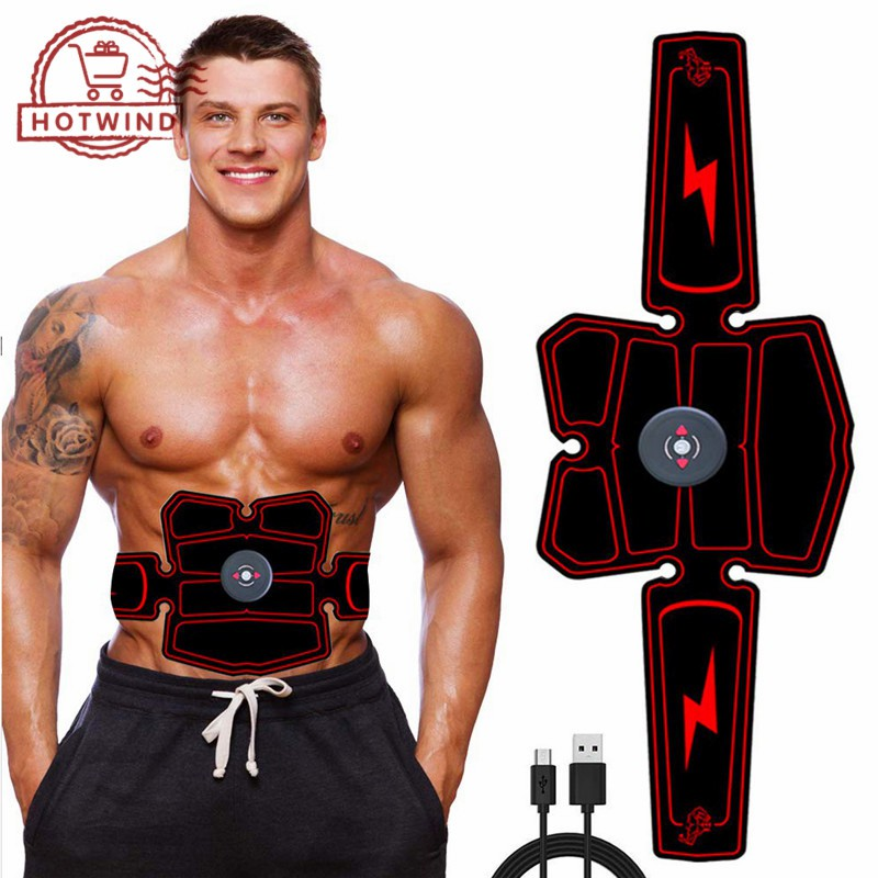 HW Smart Fitness Belt USB Rechargeable Muscle Training Abdominal Tool