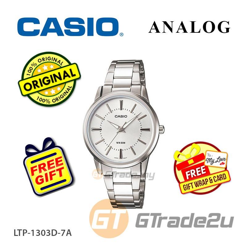 CASIO Women LTP-1303D-7A Analog Watch Jam Tangan Wanita