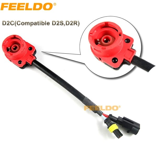 HID Xenon Bulb D2S/D2R/D2C Wiring Harness Socket Adapters (#2080) on