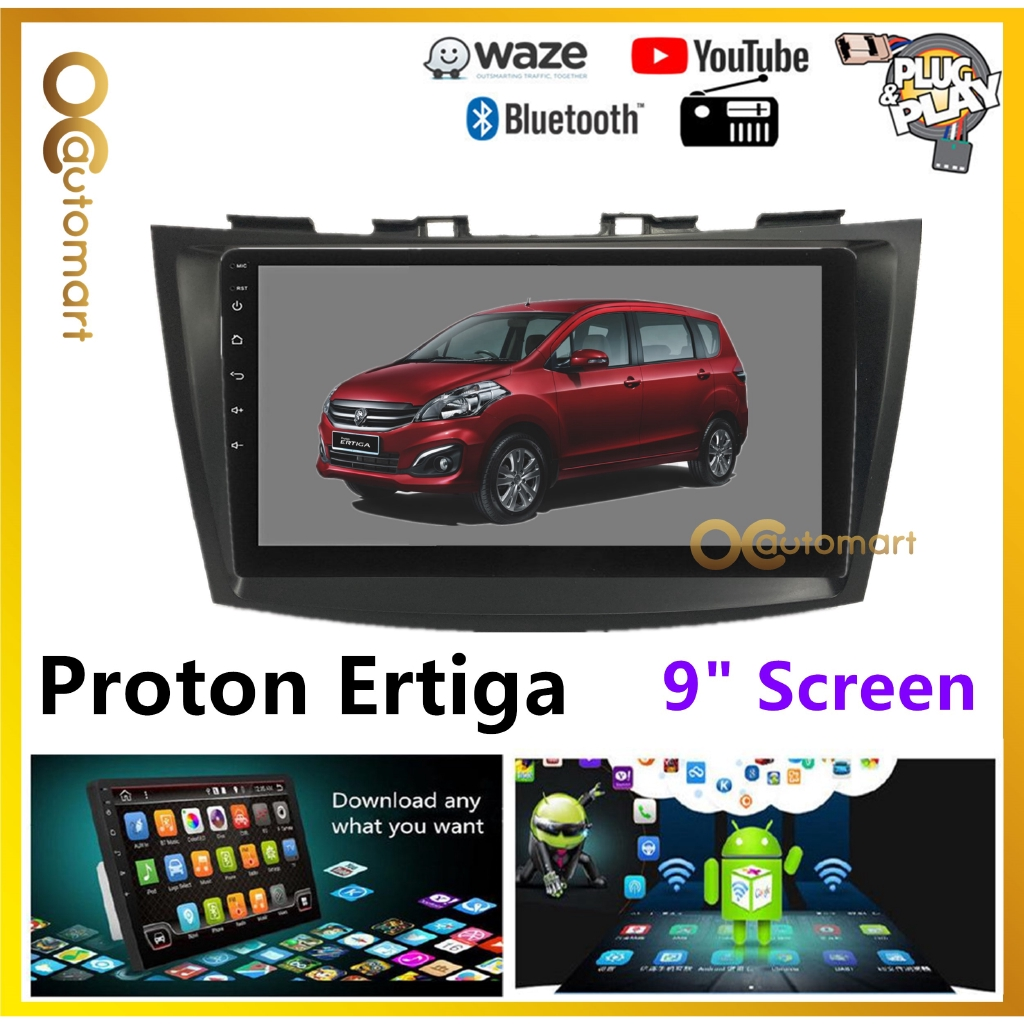 """Proton Ertiga Big Screen 9"""" Plug and Play OEM Android Player Car Stereo With WIFI Video Player/TouchScreen"""