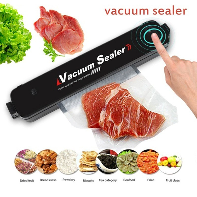 Electric Vacuum Sealer Household Automatic Sealing Food Vacuum Sealer  Kitchen Food Fruit Packaging Machine with 15PCS Bags Kitchen Storage  Supplies | Shopee Malaysia