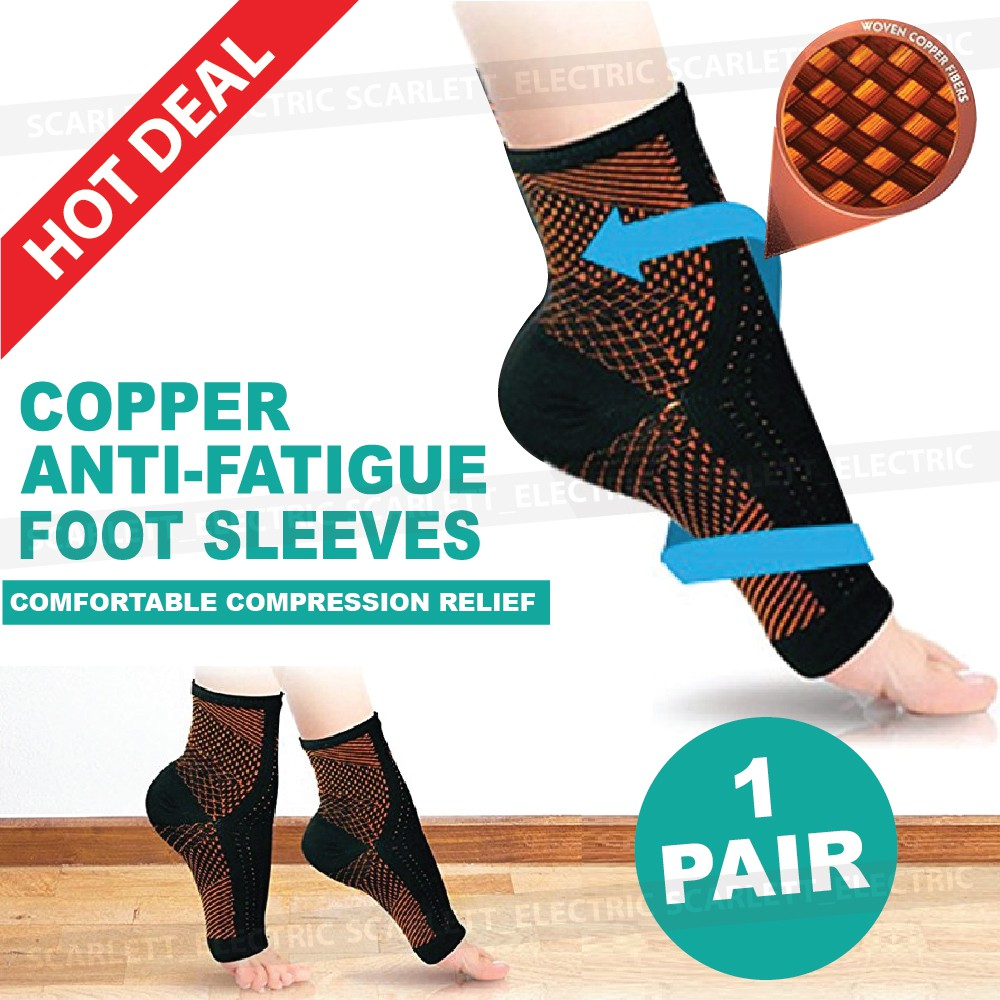 f935768de2 Copper Anti-fatigue Compression Foot Ankle Sleeves UNISEX Socks Relief |  Shopee Malaysia