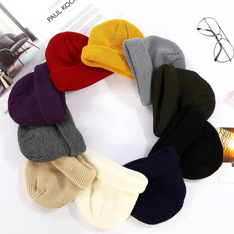 6de6cb0e9 Unisex Men Women Beanie Hat Winter Warm Ribbed Popular Korean Hip-Hop Wool  Hat