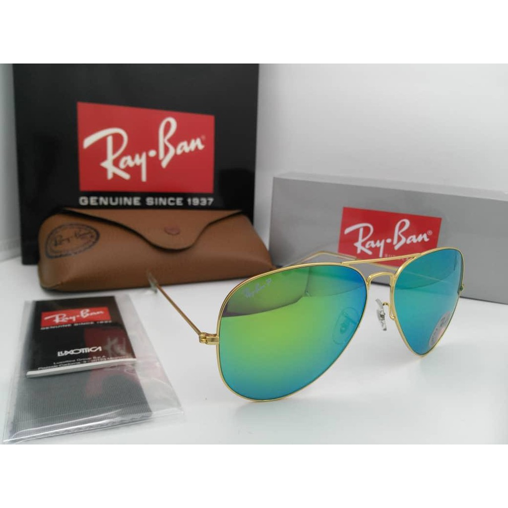 (Ray.Ban) Aviator Polarized Sunglasses