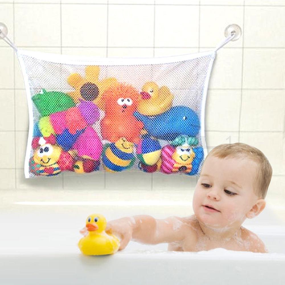 UK Baby Bath Toy Tidy Storage Net Suction Cup Bag Mesh Shower Bathroom Organiser