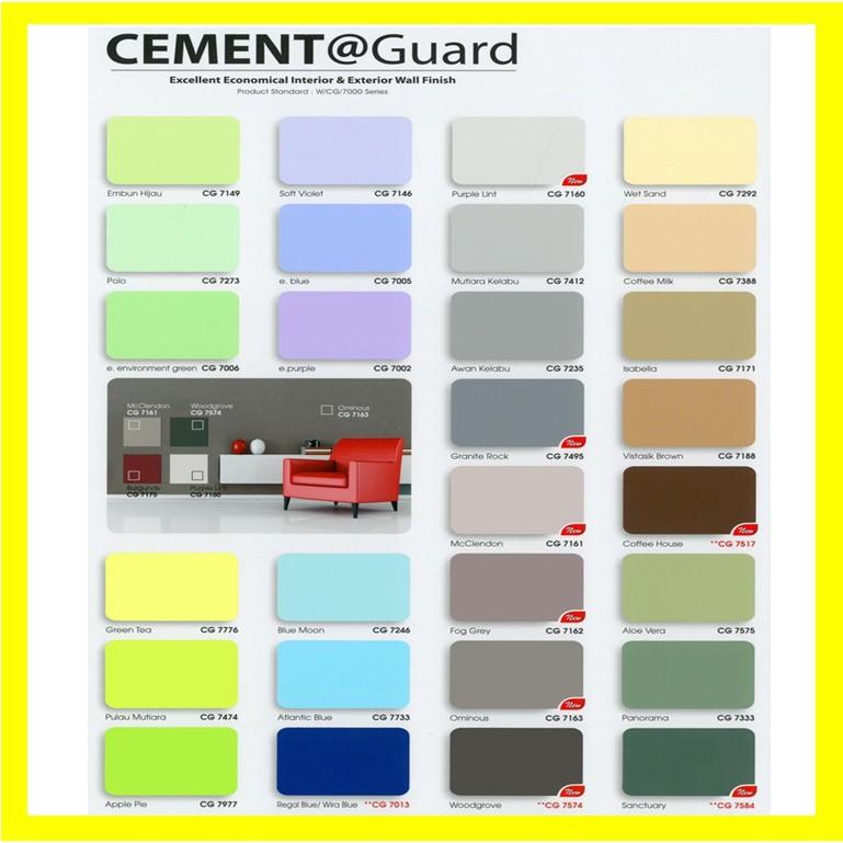 7 Litre Sancora Cement Guard Emulsion Paint Wall Ceiling Paint Dinding Cat Simen Colour Cat Air Shopee Malaysia