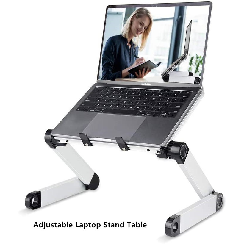Adjustable Laptop Stand Table-Foldable Lift Bracket Aluminum Ergonomics Design-For Home&Office / NoteBook/Tablets