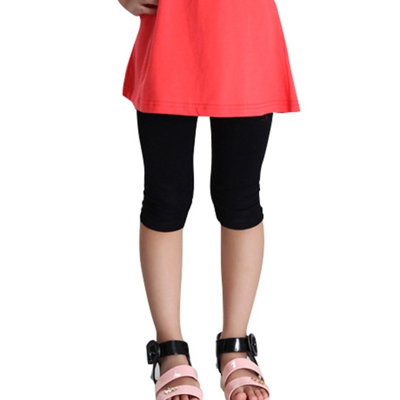 d569c8dfd ProductImage. ProductImage. Baby Kid Girl Cotton Stretch Skinny Leggings  Casual Capris Pant ...