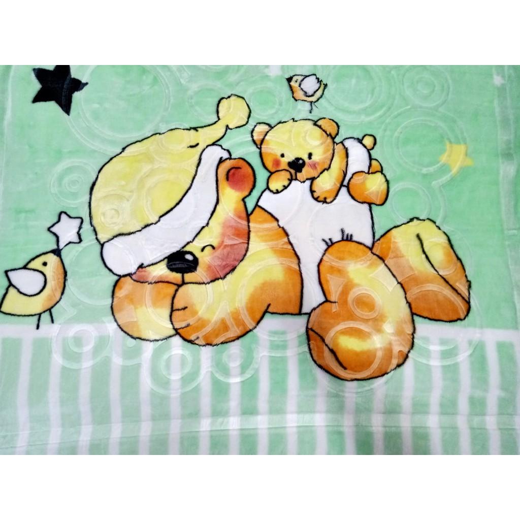 Sleeping Bear Embossed Design Baby Blanket Newborn