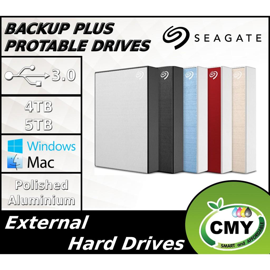 Seagate 4TB 5TB Backup Plus Portable Aluminium Portable External Hard Disk Drive + Face Mask
