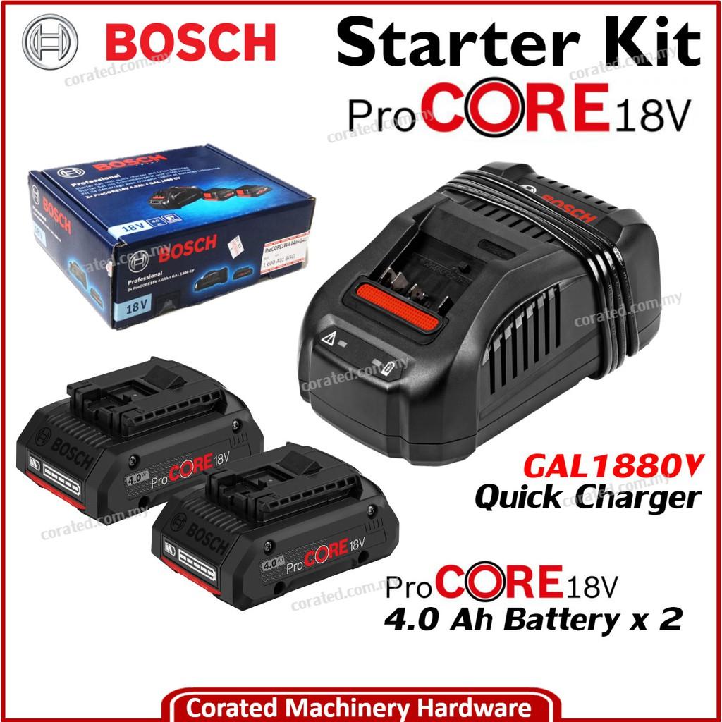 Pack 2 batteries 18V 6 Ah chargeur GAL 1880 CV Bosch