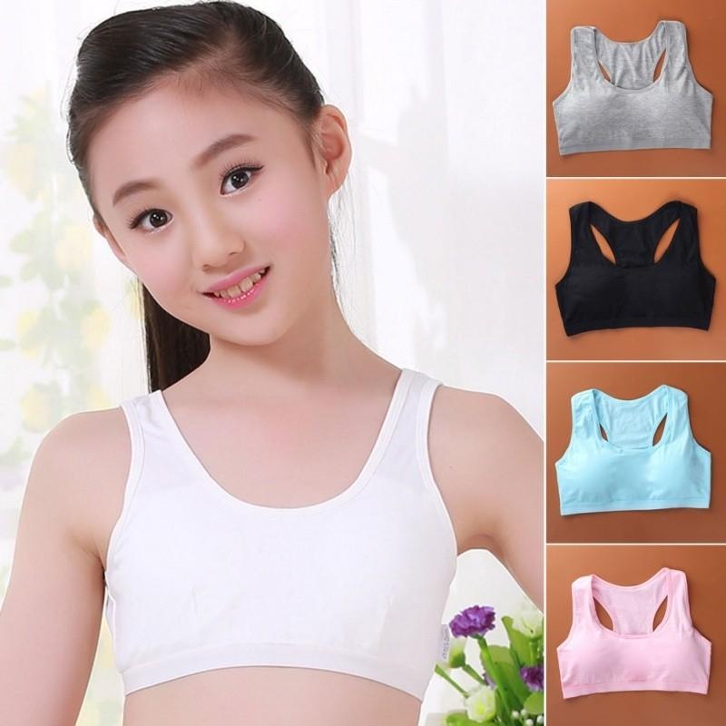 2ba9a4245b0 Teenage Children Girl Student Underwear Bra Thin Cup Vest