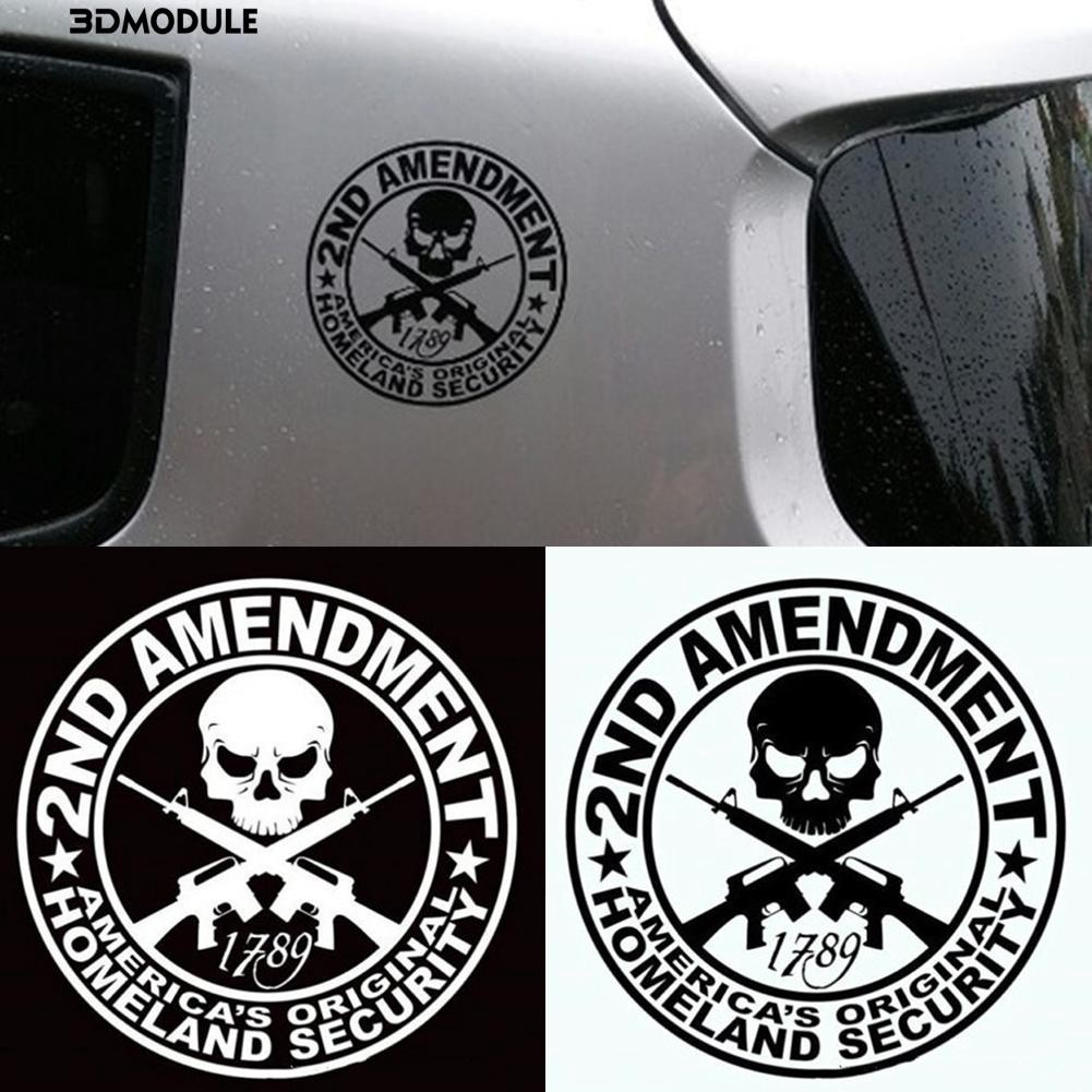 2nd 4x4 Amendment Original Homeland Security Gun Car Window Vinyl Decal Sticker