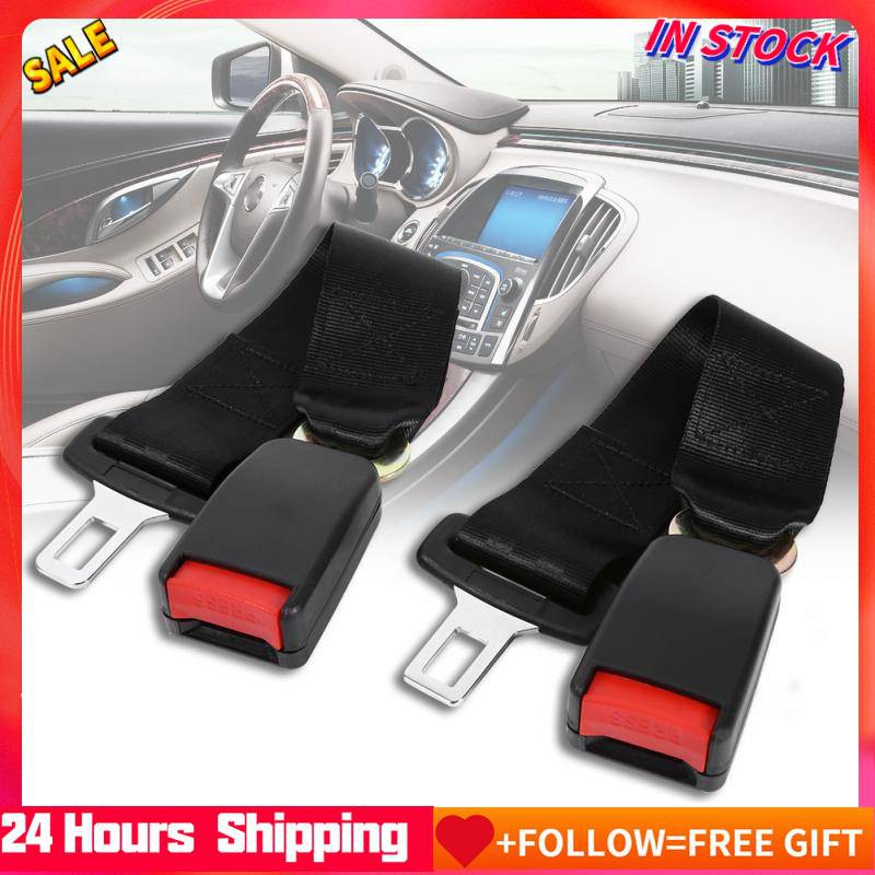 Durable Retractable 3 Point Wire Buckle Car Safety Seat Lap Belt Set Assembly