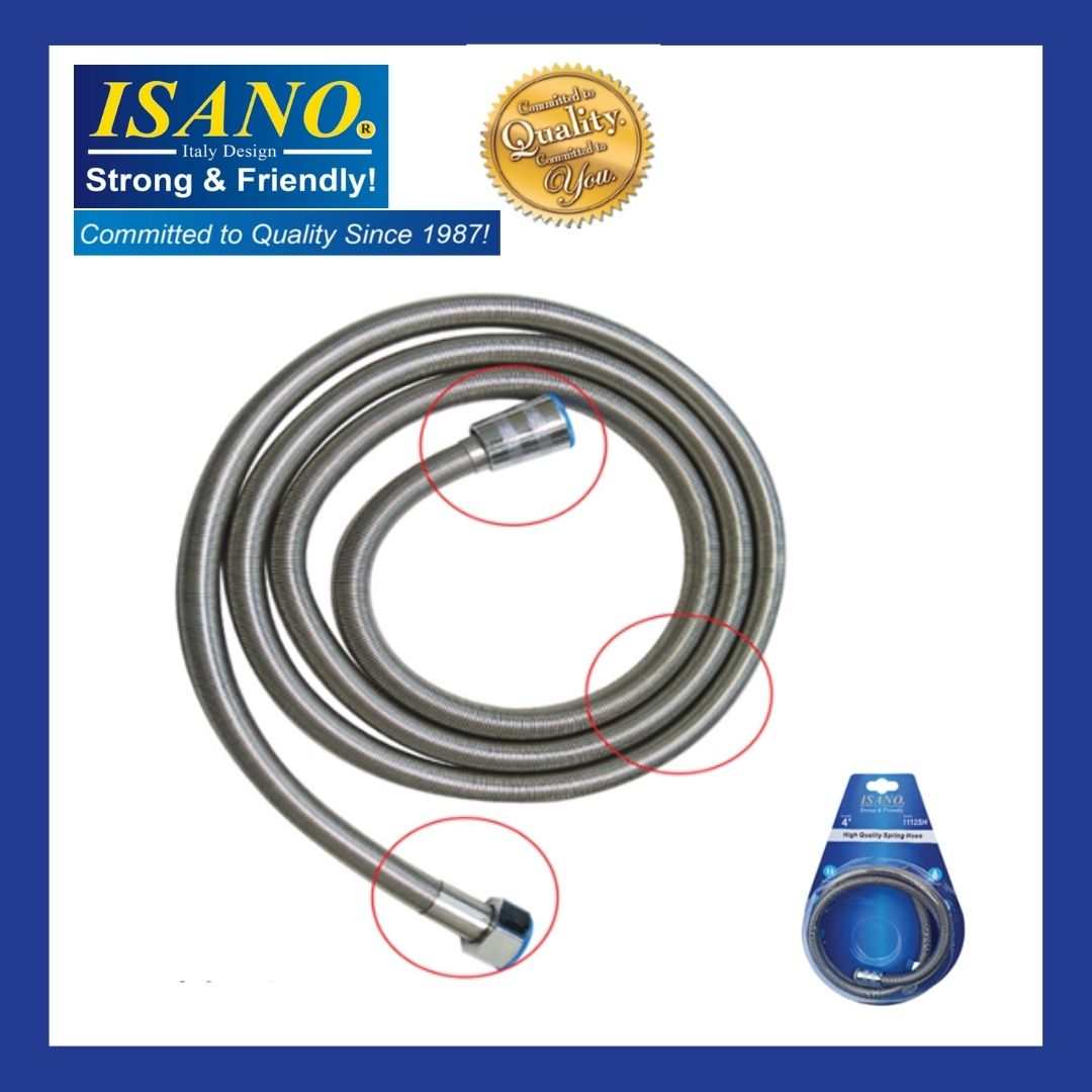 ISANO SS304 Stainless Steel Shower Hose 1.2M, 1.5M, 1.8M