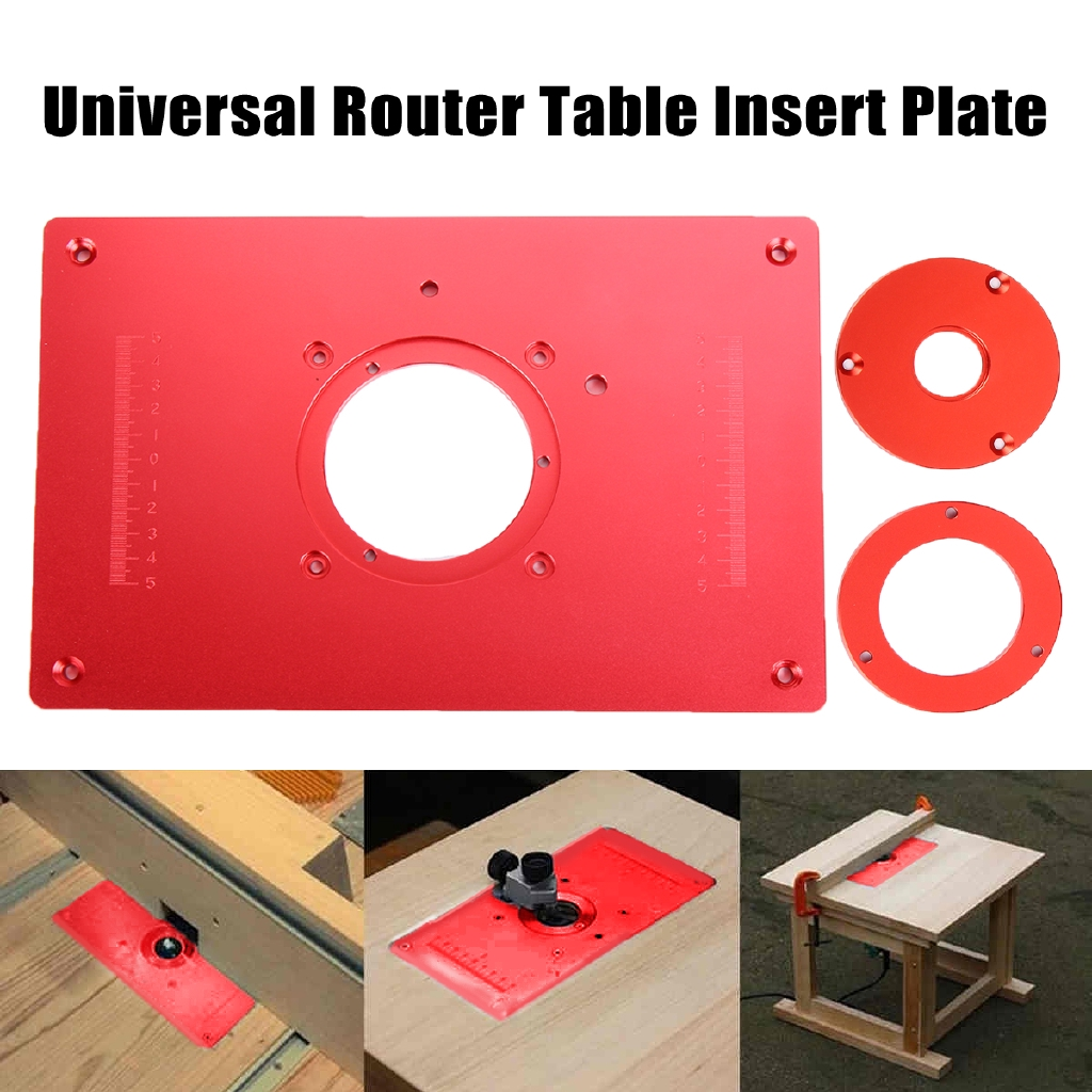 Aluminum plunge router table insert plate for woodworking benches aluminum plunge router table insert plate for woodworking benches household shopee malaysia greentooth Gallery