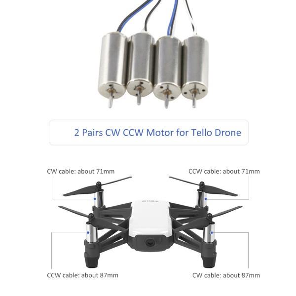 Universal Motor CW/CCW Motors for DJI Tello Mini Quadcopter Drone Repair