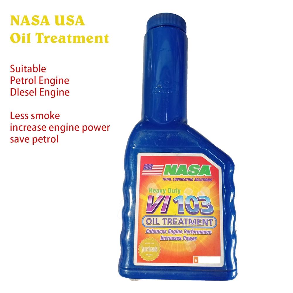 NASA USA VI103 oil treatment (0.287L) for petrol diesel engine less smoke power increase