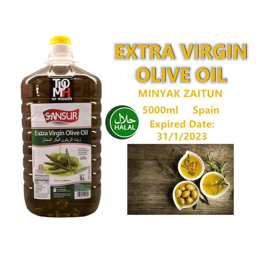 "5Litre minyak zaitun ""extra virgin olive oil"" 橄榄油(EVOO)"