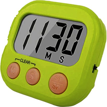 Kitchen Timer Electronic Memory Timer Large Screen Count Up & Count Down
