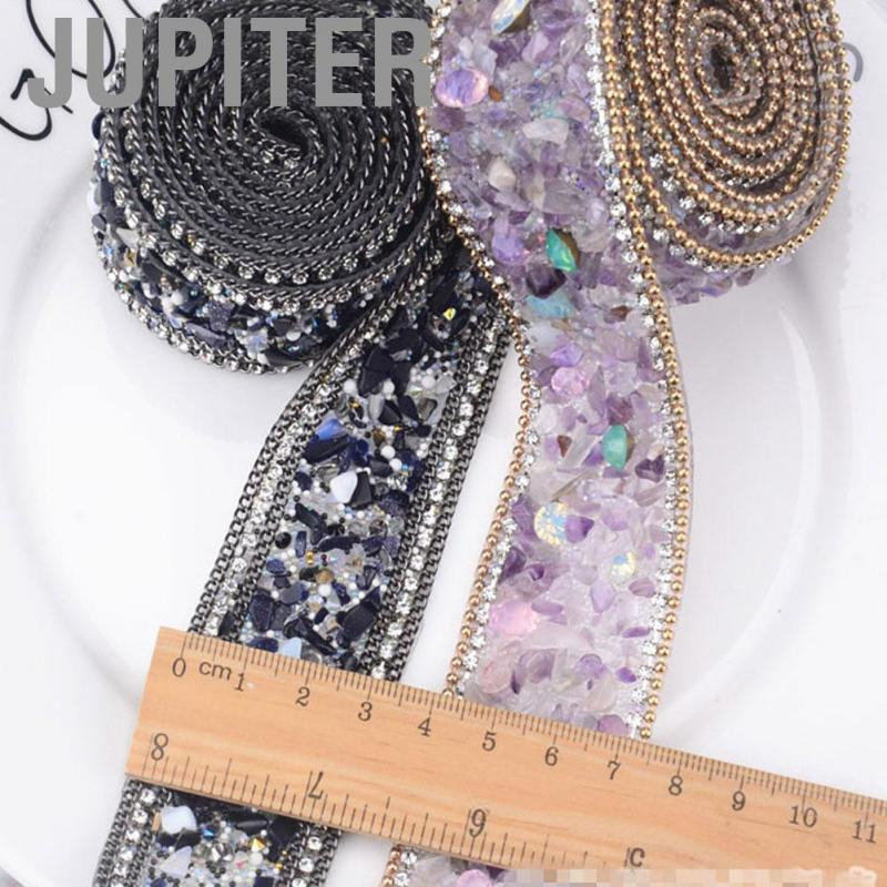 Crystal Strass Iron On Banding Beaded Applique Wedding Dress Trim DIY Jewelry Shoes Bags Dolls Decoration L35MM-2