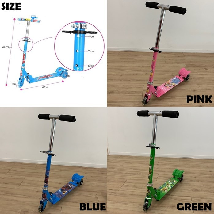 READY STOCK🌹 SCOOTER RODA BERLAMPU LED MAX LOAD 30KG / KIDS SCOOTER WITH LED WHEEL
