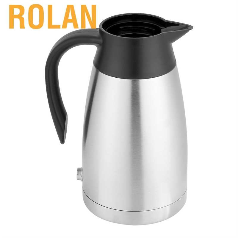 Rolan 12V 1000ml Stainless Steel Car Automobile Electric Heating Kettle Portable Water Cup