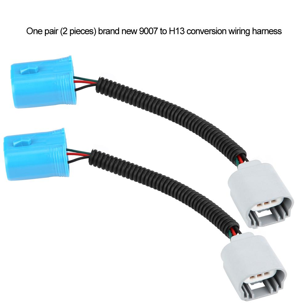 Connector Harness To Wire Ceramic Male Socket Plug 9007 H13 ... on h13 hid wiring, dodge oem parts diagram, project diagram, h13 bulb wiring, h13 connector diagram,