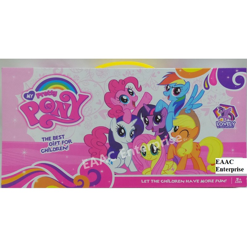 Big & Adorable My Lovely Pretty Pony Set Comb My Hair Poney